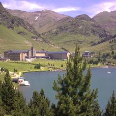 Vall de Núria. Catalunya. We had lunch at the edge of this lake this summer.