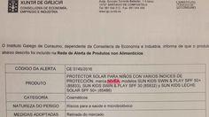 Alarma en la comunidad escolar ante una alerta de Consumo sobre un protector sol... - http://www.vistoenlosperiodicos.com/alarma-en-la-comunidad-escolar-ante-una-alerta-de-consumo-sobre-un-protector-sol/