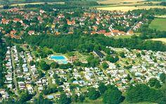 Luftbildaufnahme Campingplatz mit Erlebnisbad in Dransfeld