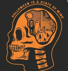 This is your brain on spooky shit 🎃 Available on my site Halloween Artwork, Halloween Images, Halloween Horror, Halloween 2020, Vintage Halloween, Fall Halloween, Happy Halloween, Halloween Icons, Halloween Labels