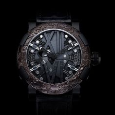 Titanic steam-punk black watch by Romain Jerome