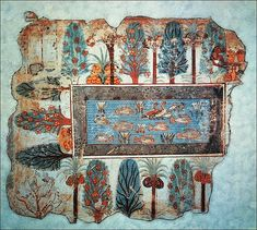 Garden Pond  --  Fresco from the tomb of Nebamun1  --  No further reference provided.
