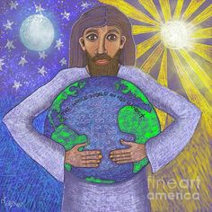 Caroline Street - The Whole World in His Hands Creation Of Earth, Gods Creation, Bible Art, Christian Art, His Hands, Figurative Art, Art For Sale, Jesus Christ, Fine Art America