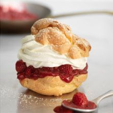 raspberry cream puff