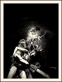 Texas Chainsaw Massacre - Berni Wrightson -  ''Dark as a Dungeon'' ----