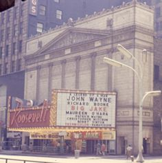 The Roosevelt opened on State Street in Chicago in 1921, closed in 1979, and was demolished the next year. Photo taken in 1971.