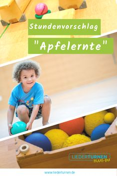 """""""Apfelernte"""" – Stundenvorschlag für das Kinderturnen The hourly proposal """"Apple Harvest"""" delivers great game ideas and device inspiration for gymnastics with children! Have fun with the night urn! School Sports, Kids Sports, Apple Harvest, Exercise For Kids, About Me Blog, Classroom, Kids Rugs, Education, Games"""