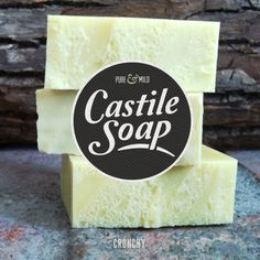 Make Your Own ~ Pure & Mild Castile Soap ~ to then use as soap or in other recipes like laundry detergent! Adding essential oils for aromatherapy & medicinal benefits!
