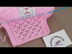 Kolay ajurlu bebek örgü modeli @KARDEŞ ÖRGÜLER / AJURLU KUTUCUK MODELİ - YouTube Baby Knitting Patterns, Hat Patterns, Blanket, Crochet, Stitches, Youtube, Knits, Tejidos, Stitching
