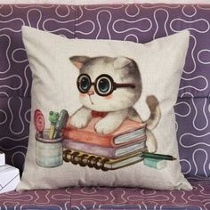 GET $50 NOW | Join RoseGal: Get YOUR $50 NOW!http://www.rosegal.com/decorative-pillows-shams/lovely-kitten-pattern-square-shape-378509.html?seid=1424208rg378509