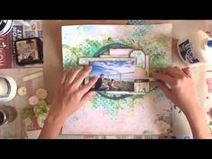 Mixed Media Layout tutorial. Part of my DT work for Blue Fern Studios, created with the gorgeous Blue Fern Garden papers and some lovely chipboards from BFS as well.  For details and close-ups, please visit my blog http://jelibeanz.blogspot.com