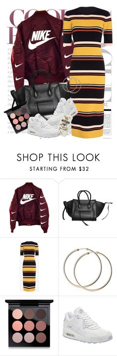 """Untitled #1228"" by noviii ❤ liked on Polyvore featuring CÉLINE, Exclusive for Intermix, MAC Cosmetics, NIKE and Moschino"