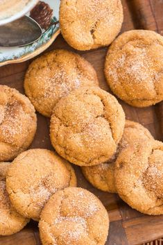 Soft & Chewy Pumpkin Snickerdoodles - The Gold Lining Girl Baking Recipes, Cookie Recipes, Dessert Recipes, Fall Baking, Holiday Baking, Pumpkin Snickerdoodles, Snickerdoodle Recipe, Recipe Images, Food Gifts