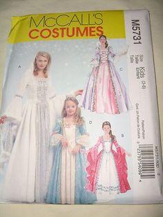 McCalls Costume Pattern 5731 Girls 3 8 Renaissance Princess Dress Rapunzel Fairy | eBay