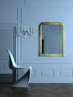 Mooie afwerking met deze klassevolle lambrisering. Meer info over de mogelijkheden met Orac Decor op www.discoveringdecor.be