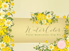WCA71-yellow-romantic-adorable-floral-clips