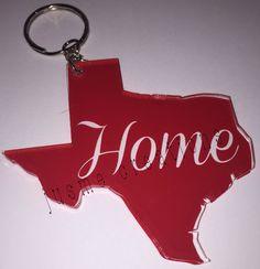 Texas Key Chain Acrylic Key Chain Personalized by jusmecreations