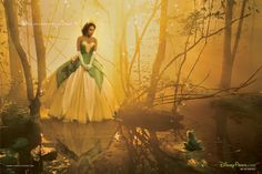 Jennifer Hudson as Tiana in the Prince and the Frog ~ Annie Leibovitz's Disney Dream Portrait series.