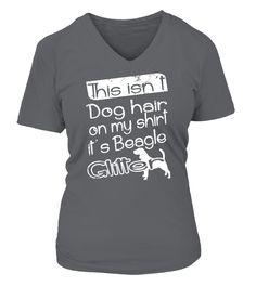 This isn't dog hair on my shirt, it's beagle glitter t-shirt