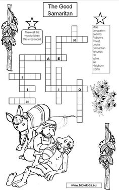 Printable Coloring Page for Parable of the Good Samaritan