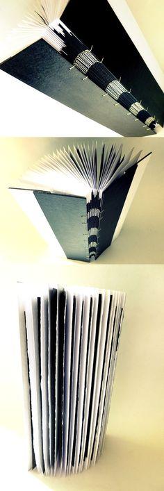 black and white experimental #bookbinding by Luisa Gomes Cardoso for Canteiro de Alfaces