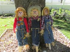 Scarecrow  Autumn Indoor or Outdoor Decor Stake In Pot or