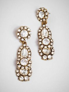 For the holidays, find yourself a classic pair of statement earrings, like these dangles.