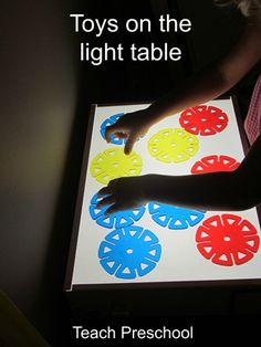 Light table Explorations by Teach Preschool Teach Preschool, Preschool Science, Play Based Learning, Fun Learning, Classroom Activities, Activities For Kids, Montessori, Investigation Area, Light Board