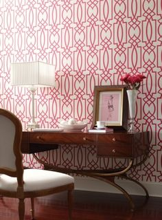 Love this bold geometric - Grata Wallpaper contemporary wallpaper by York wall coverings.