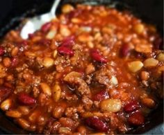 Calico Beans - Bake in the oven OR in your Crock Pot, either way the results are delicious!