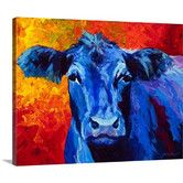 Found it at Wayfair - Blue Cow by Marion Rose Painting Print on Gallery Wrapped Canvas