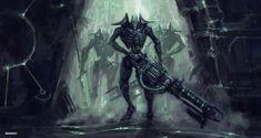 Warhammer 40k Necrons, Warhammer Fantasy, Sci Fi Characters, Fictional Characters, Alien Logo, Batman, Superhero, Artist, Robots
