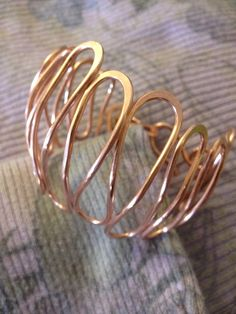 Endless Love Ripple Dome Wavy Copper Wire by CopperAlchemyHealers, $18.00
