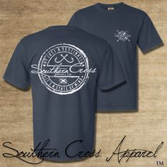 Southern Cross Apparel casual cotton t shirt. Printed on a Comfort Colors shirt this shirt is one of the most comfortable shirts you will ever wear.