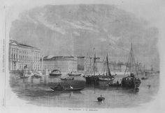 OLD Print ST Petersburg University Buildings Russia C1861 River Boats Engraving | eBay