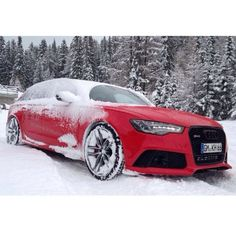 #Audi #RS6 in the snow... #SantaMonica