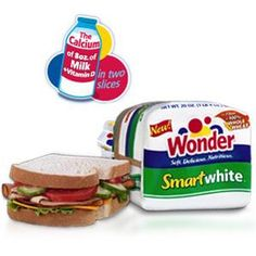 Wonder® Smartwhite® bread- with all the fiber of 100% whole wheat!