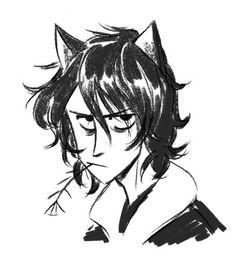 Nico is grumpy cat, fish bone soldiers // I love the way ilyone draws Nico