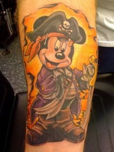 Mickey Mouse tattoos | Pretty Mickey Mouse Tattoo