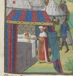 « La geste ou histore du noble roy Alixandre, roy de Macedonne, » traduite d'un « livre rimet,... intitulé l'Istore Alixandre, » par ordre de « Jchan de Bourgongne, conte d'Estampes »