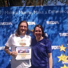 Top fundraising participant :) #whyiwalk #musculardystrophy #myotonicmusculardystrophy #makeamuscle #myotonicdystrophy #mda