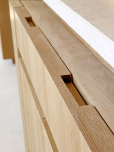 concealed timber handle detail