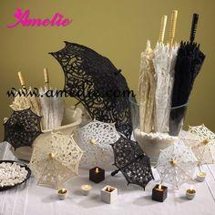 ❁◕ ‿ ◕❁   Belga Rendas bordado guarda-sol e ventilador nupcial conjunto Casamento guarda-sol -  / ❁◕ ‿ ◕❁    Belgian lace embroidery umbrella and fan bridal parasol wedding set -