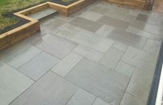 Natural Indian Sandstone Grey patio supplied and fitted by Mango Paving & Landscaping Exeter