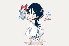 """quisso3o: """" Another happy mommy. I imagine Rukia going full Lion King while…"""