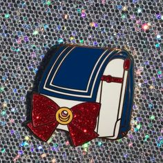 """My+Sailor+Randoseru+hard+enamel+pin+is+based+off+the+iconic+Japanese+school+backpack+with+a+Sailor+Moon+twist!+Perfect+for+Sailor+Moon+fans!+They+will+come+1.5""""+with+one+red+glitter+variant+and+gold+plating!+ *not+a+licensed+product"""