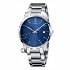 Ανδρικό ή γυναικείο quartz ελβετικό ρολόι CALVIN KLEIN μοντέλο City με ατσάλινο μπρασελέ & μπλε καντράν   Οικονομικά ρολόγια CALVIN KLEIN στο Χαλάνδρι #Calvin #Klein #city #μπρασελε #ρολοι
