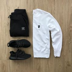 new style for men is part of Streetwear outfit - Swag Outfits Men, Stylish Mens Outfits, Casual Outfits, Men Casual, Fashion Outfits, Sneakers Fashion, Fashion Shoes, Sweater Outfits, Dope Outfits