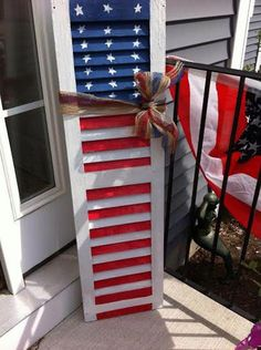 Old Shutters, Wooden Shutters, Window Shutters, Window Frames, Farmhouse Shutters, Custom Shutters, 4th Of July Party, Fourth Of July, Indoor Outdoor