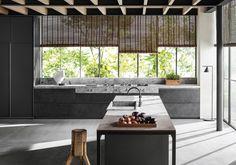 Un îlot de cuisine perpendiculaire à la cuisine
